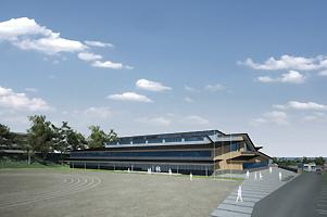 新校舎イメージ(鉄筋2階建、延床面積約3,600平方m)